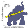 Circus Elephant Unfinished Cutout, Wooden Shape, Paintable MDF Craft