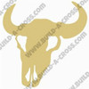Cow Skull Unfinished Cutout, Wooden Shape, Paintable MDF DIY Craft