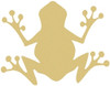 Critter Frog Unfinished Cutout, Wooden Shape, MDF DIY Craft