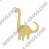 Dinosaur Brachiosaurus Unfinished Cutout, Wooden Shape, Paintable MDF