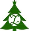 Wooden Christmas Tree Monogram Cutout, Christmas Monogram Letters