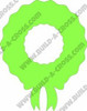 Christmas Wreath With Ribbon Unfinished Cutout, Wood Shape, Paintable