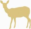 Deer doe Unfinished Cutout, Wooden Shape, Paintable MDF DIY Craft