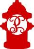 Fire Hydrant Wooden Letter Monogram DIY Unfinished Crafts