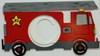 Fire Truck Frame Letter Insert Wooden Monogram Unfinished DIY Craft