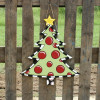 Wooden Christmas Tree With Star, Wood Unfinished Cutout, DIY Craft