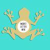 Frog Frame Letter Insert Wooden Monogram Unfinished DIY Craft