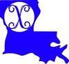 Louisiana Frame Letter Monogram Wooden Unfinished DIY Craft