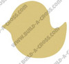 Bird Unfinished Cutout, Wooden Shape, Paintable Wooden MDF DIY Craft