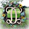 D-Monogram Letter Uppercase Wooden