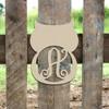 Owl Frame Letter Monogram Wooden Unfinished DIY Craft