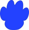Paw Print Unfinished Cutout, Wooden Shape, MDF DIY Craft