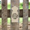 Pepper Shaker Frame Letter Monogram Wooden Unfinished DIY Craft