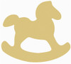 Rocking Horse Unfinished Cutout, Wooden Shape, Paintable Wooden MDF