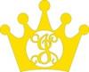 Crown Wall Decor Princess Crown Frame Letter Monogram Unfinished