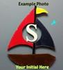 Sail Boat Frame Letter Insert Wooden Monogram Unfinished DIY Craft