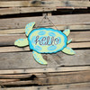 Sea Turtle Unfinished Cutout, Wooden Shape, Paintable Wooden MDF