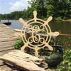 Monogram Letter, Shipwheel Frame Wooden - Unfinished  DIY Craft