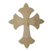 Unfinished Wooden Stacked Kit 2 Layered Crosses 9.5'' Sets Paintable Craft
