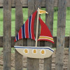 Sailboat Unfinished Cutout, Wooden Shape, Paint-able Wooden MDF