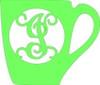 Monogram Wooden Letter Office Coffee Mug, DIY Unfinished Crafts