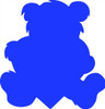 Teddybear Unfinished Cutout, Wooden Shape, Paintable Wooden MDF DIY