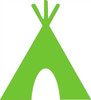 Tee Pee Unfinished Cutout, Wooden Shape, Paintable Wooden MDF DIY