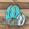 Three Pumpkins Unfinished Cutout, Wooden Shape, Paintable Wooden MDF