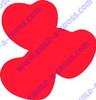 Triple Heart Unfinished Cutout, Wooden Shape, MDF DIY Craft