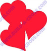 triple heart2 Unfinished Cutout, Wooden Shape, MDF DIY Craft2