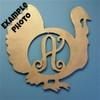 Monogram Letter, Turkey Frame Wooden - Unfinished  DIY Craft