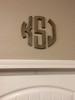 Unfinished Circle Wooden 3-Alphabet Letter Monogram Wall Decor Cutout