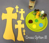 Cross 18 Unfinished Wooden Paint-able Wall Hanging Stackable