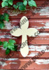 Cross 30 Unfinished Wooden Paintable Wall Hanging Stackable