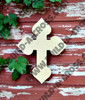 UNFINISHED WOODEN CROSS Paint-able WALL HANGING STACKABLE CROSS (38)