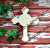 UNFINISHED WOODEN CROSS PAINTABLE WALL HANGING build-a-cross