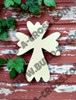 UNFINISHED WOODEN CROSS Paint-able WALL HANGING STACKABLE CROSS(51)
