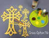 UNFINISHED WOODEN CROSS Paint-able STACKABLE CROSS (56)