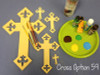 Unfinished Wooden Cross Paint-able Wall Hanging Stackable Cross (59)