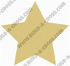 Star Unfinished Cutout, Wooden Shape, Paintable Wooden MDF