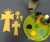 Unfinished Wooden Cross Paint-able Wall Hanging Stackable Cross 7