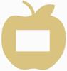 Unfinished Picture Frames Paint-able Cutout Shape apple