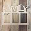 FAMILY Photo Wooden Picture Frame Unfinished, DIY Photo Frame