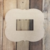 Unfinished Whimsical Picture Frame Wooden Paint Wooden Art