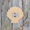 Unfinished Seashell Picture Frame Wooden Paintable Craft DIY