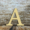 Wooden letters large Alpha make great wood monograms