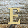 Large wood letters for wall Epsilon are cheap wooden letter-E