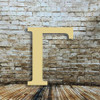 Wooden wall letter Gamma