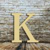 Wooden letter unfinished  Kappa