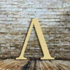 Plain wood letters Lambda